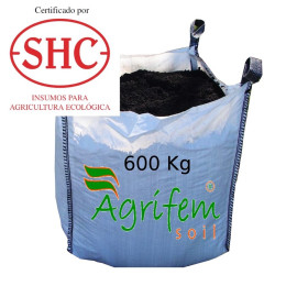 Abono orgánico certificado saca 600 Kg