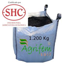 Abono orgánico certificado saca 1200 Kg