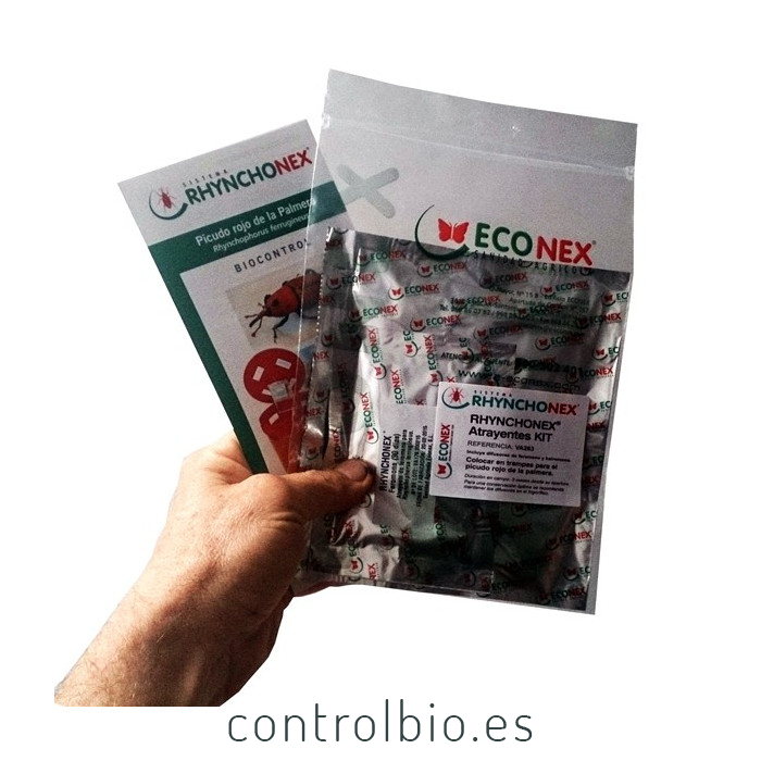 RHYNCHONEX kit atrayente picudo rojo (Feromona + Kairomona) 90 días