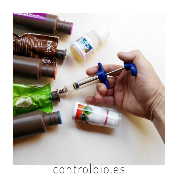 Carga individual de inyect o inbag con fitosanitario