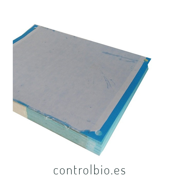 PLACA AZUL 20 x 25 cm individual (paquete de 50 Ud)