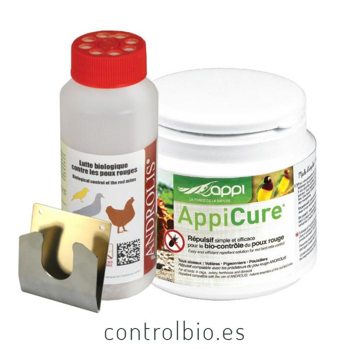 COMBI ÁCARO ROJO Androlis M + Appicure