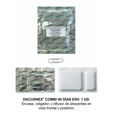 Atrayente + Feromona hembras Mosca del olivo 90 días DACUSNEX COMBI