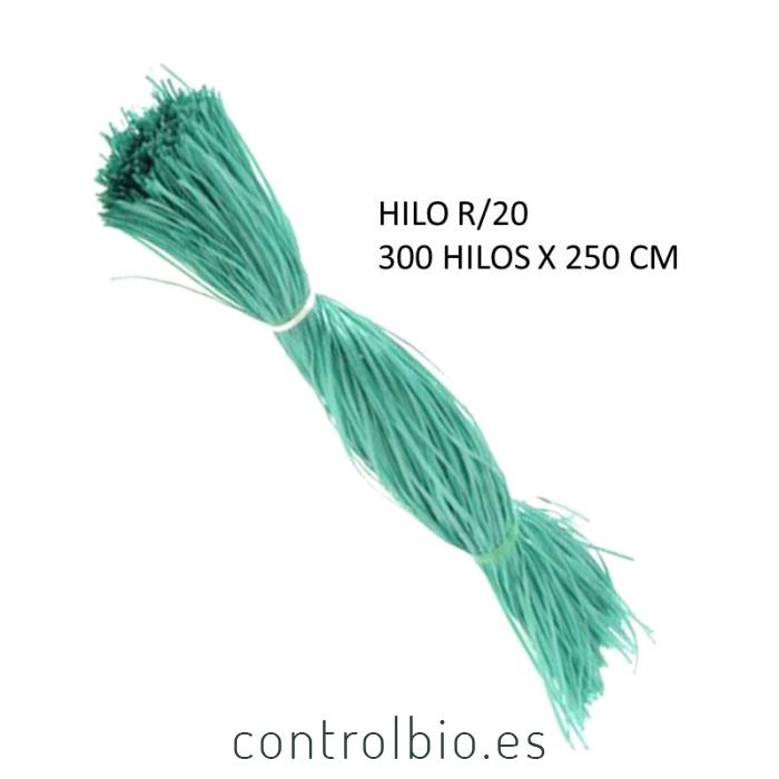HILO BIODEGRADABLE R20 manojo 300 hilos de 250 cm