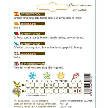 CRISANTEMO Chrysantemum carinatum semillas