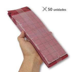 PLACA ROJA individual 15x30 cm (50 Ud)