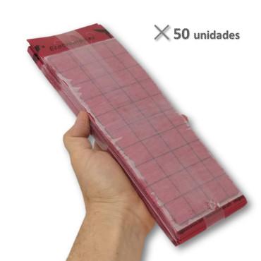 PLACA ROJA 10 x 30 cm individual (paquete de 50 Ud)