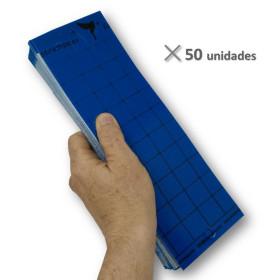 PLACA AZUL 10 x 30 cm individual (paquete de 50 Ud)