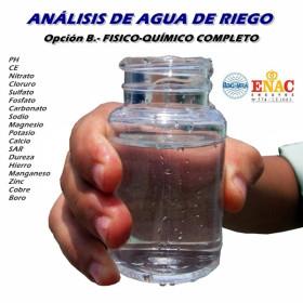 Análisis de agua de riego certificado