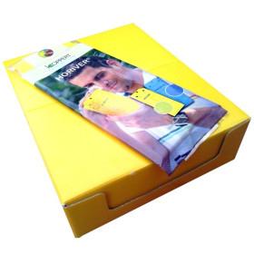 Placa amarilla 10x25 cm, Caja 800 ud HORIVER-TR.
